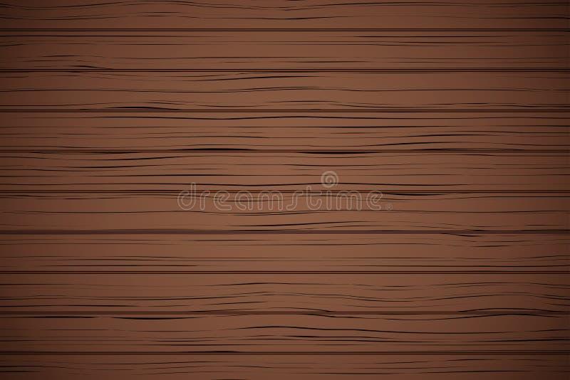传染媒介黑暗的木板条纹理 皇族释放例证