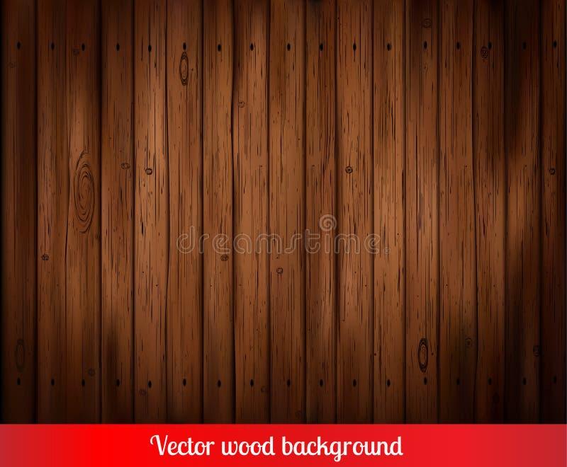 传染媒介木头背景 库存例证
