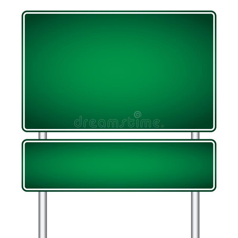 传染媒介杆标志被隔绝的路空白 向量例证