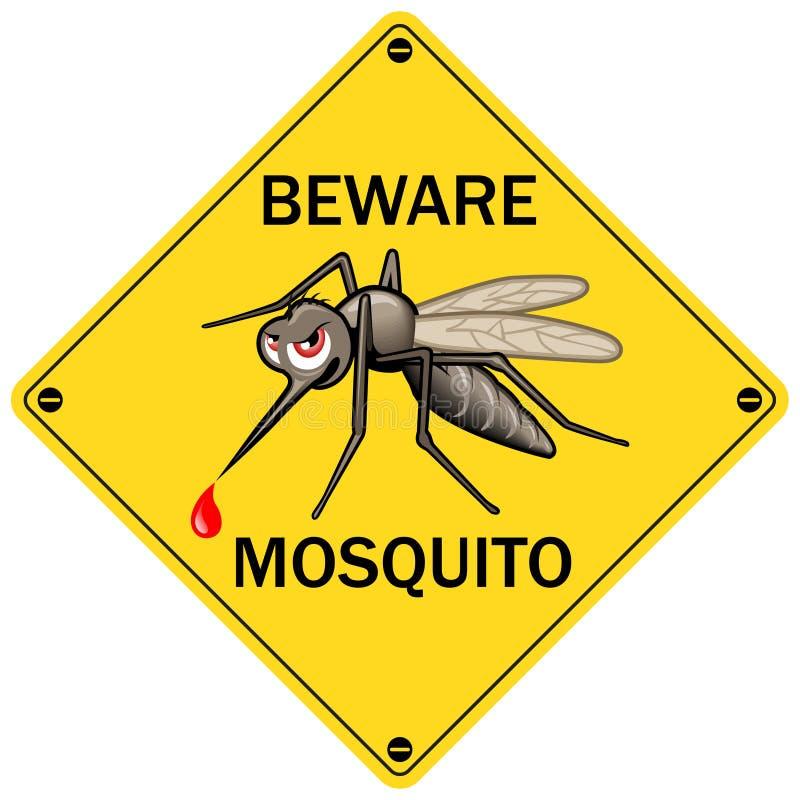 传染媒介标志:当心蚊子 库存例证