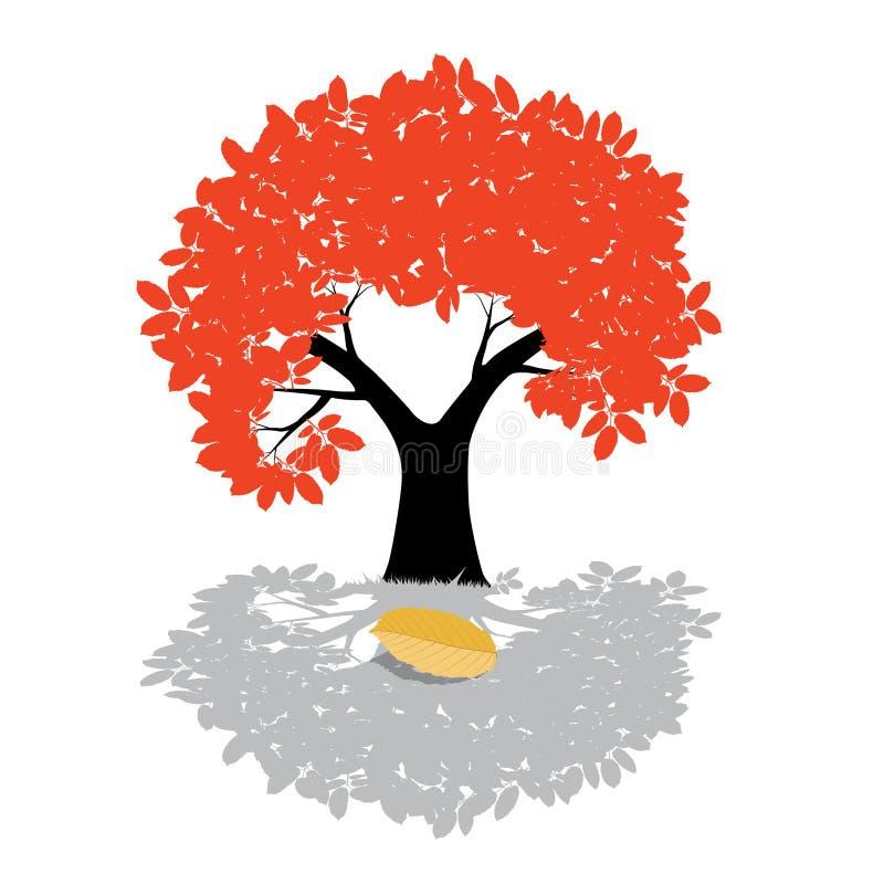 传染媒介树例证-自然标志 向量例证
