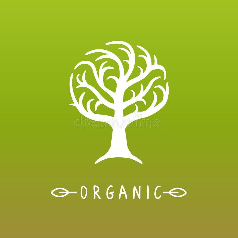 传染媒介树商标 库存例证