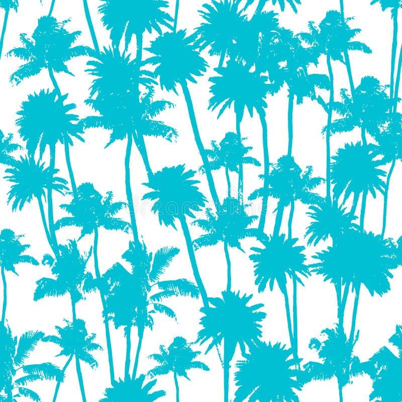 传染媒介棕榈树无缝的样式 向量例证