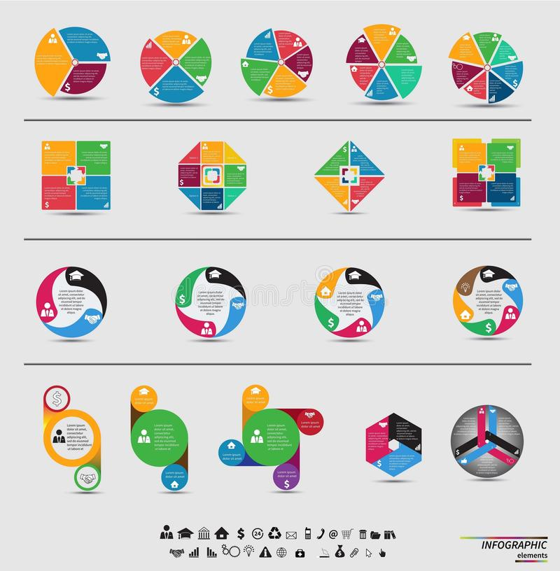 传染媒介模板infographic为您的事务 向量例证