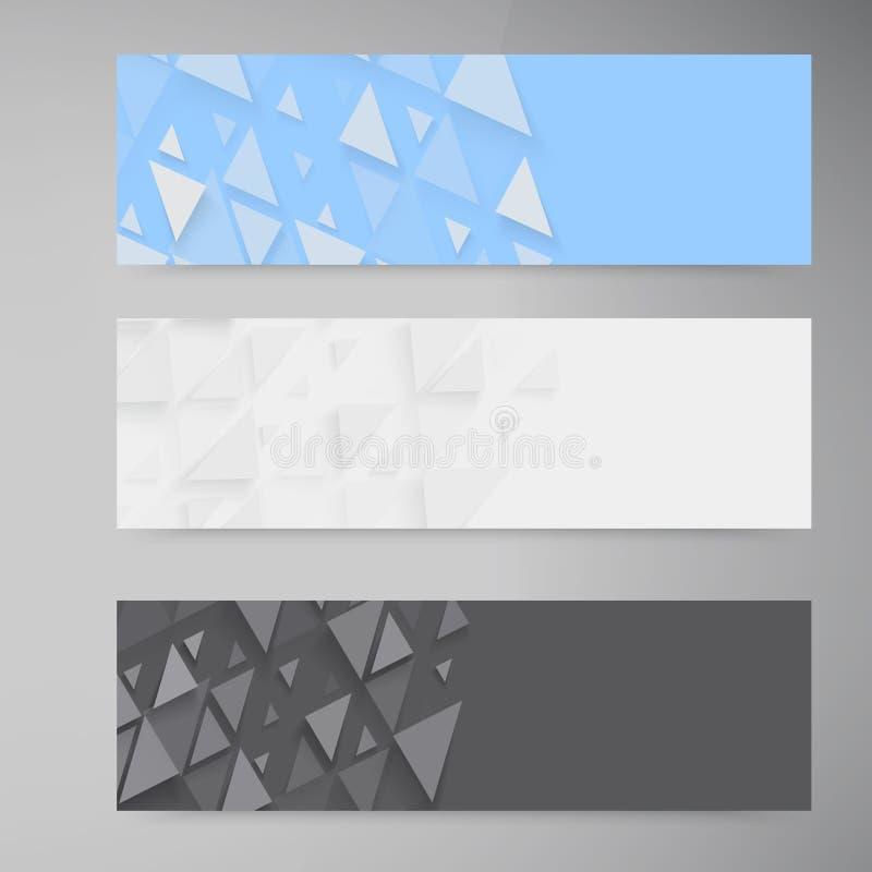 传染媒介横幅和正方形 彩色组 向量例证