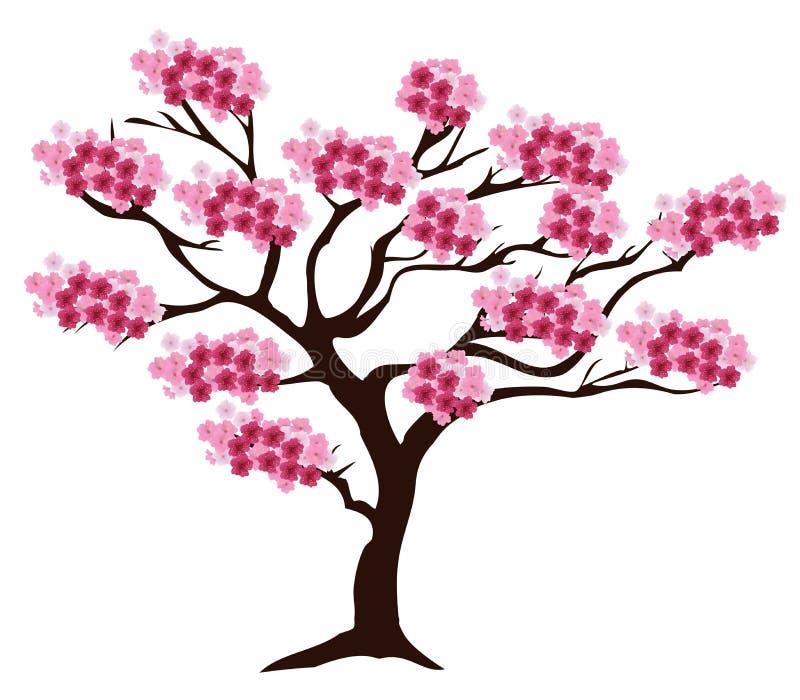传染媒介樱桃树 向量例证
