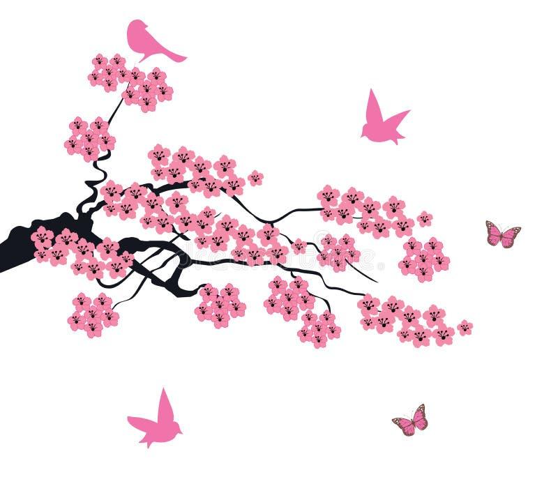 传染媒介樱花 库存例证