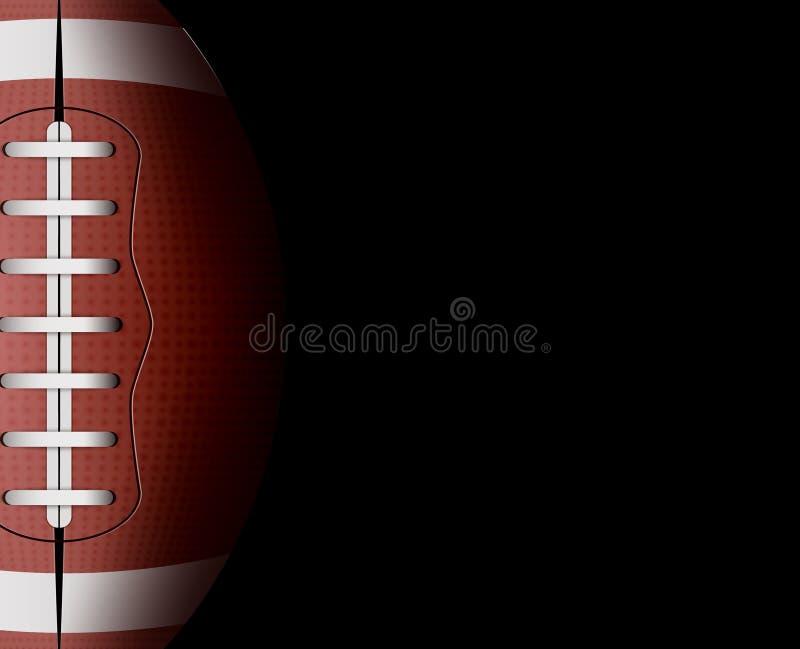 传染媒介橄榄球球背景 橄榄球体育比赛竞争 皮革球设备例证 橄榄球队员名单 皇族释放例证
