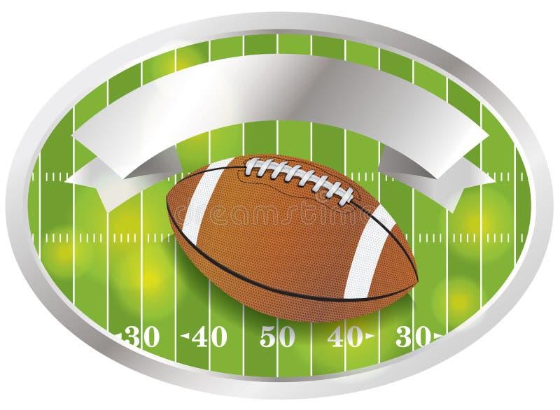 传染媒介橄榄球象征和徽章 库存例证
