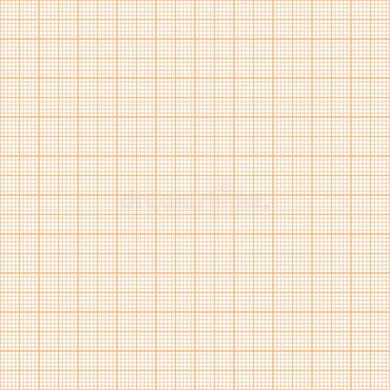 传染媒介橙色公尺座标图纸无缝的样式 库存例证