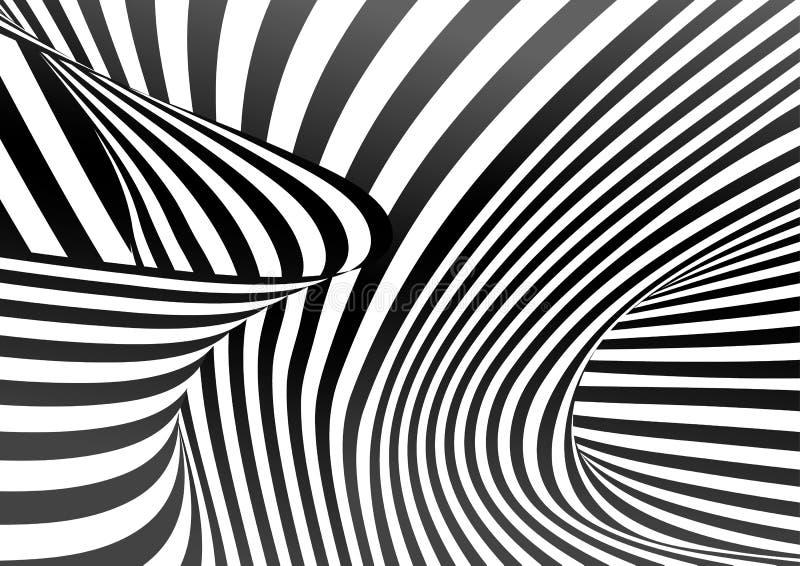 传染媒介欧普艺术样式 错觉摘要背景图片