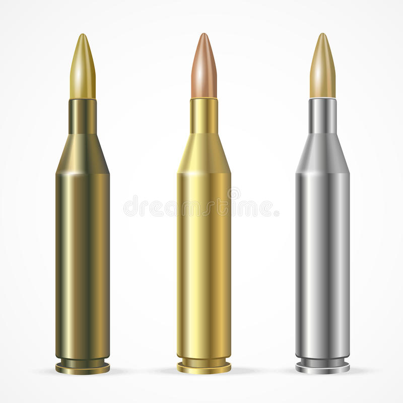 传染媒介步枪子弹集合 向量例证