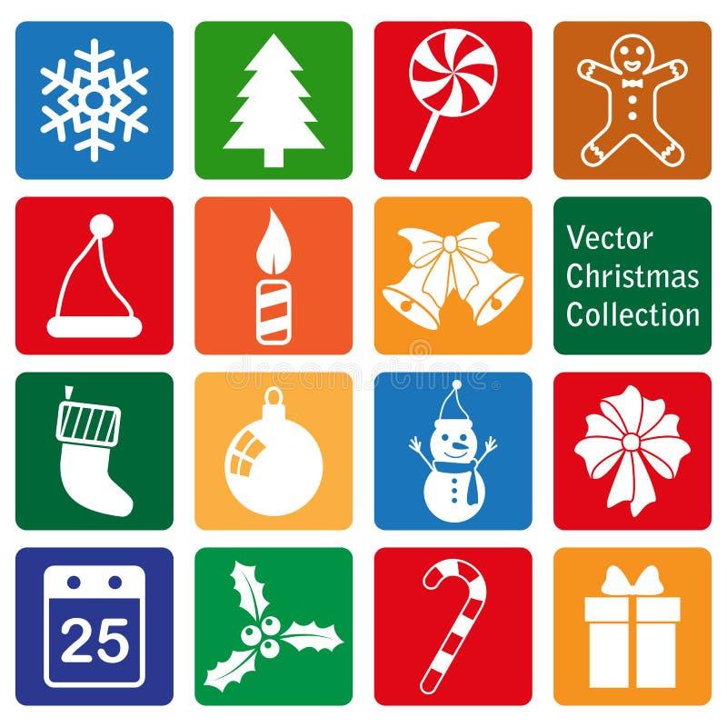 传染媒介汇集:圣诞节和新年象 库存例证