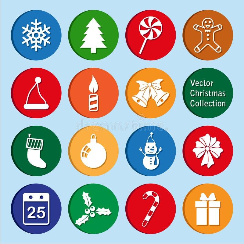 传染媒介汇集:圣诞节和新年象 向量例证