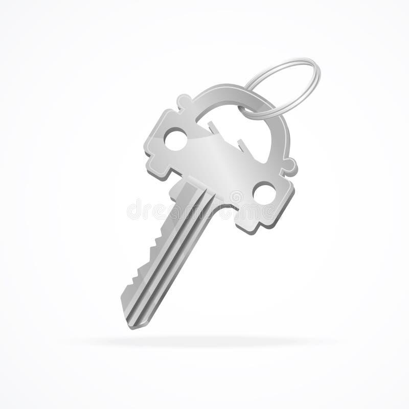 传染媒介汽车钥匙圈 向量例证