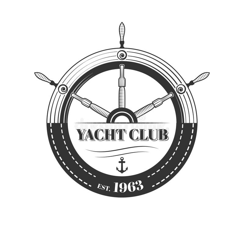 传染媒介游艇俱乐部商标 皇族释放例证