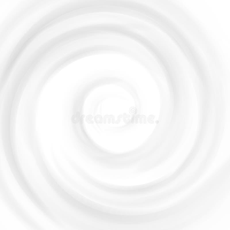 传染媒介漩涡奶油在白色隔绝的纹理背景 皇族释放例证