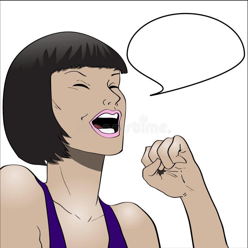 传染媒介漫画书样式妇女谈话 皇族释放例证