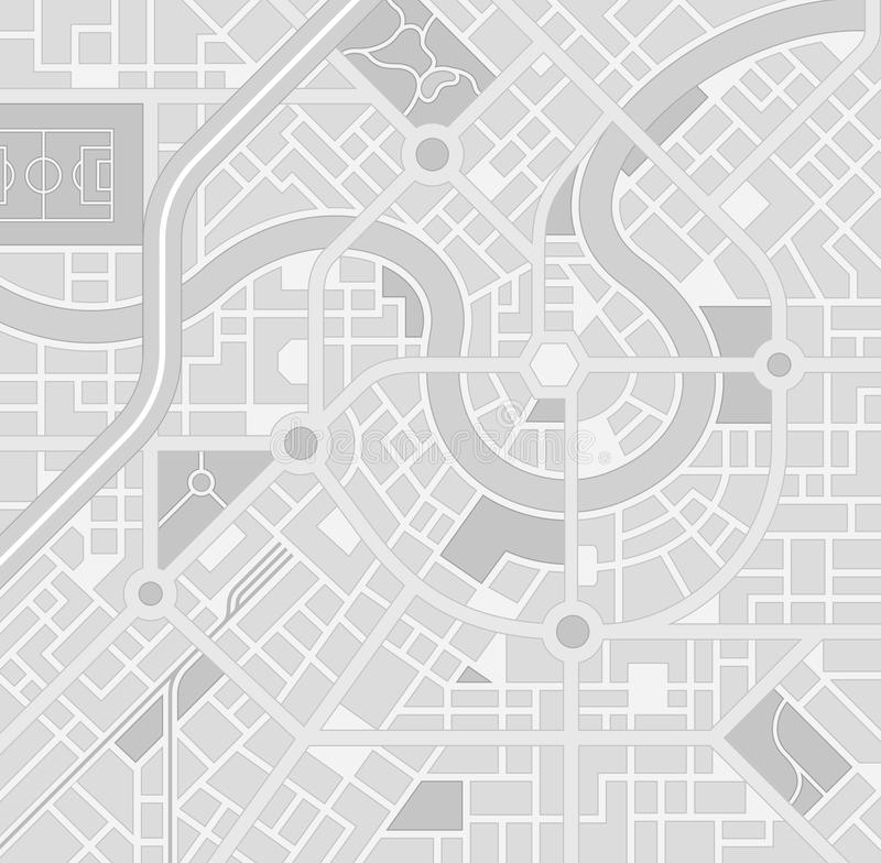 传染媒介灰度的城市地图样式