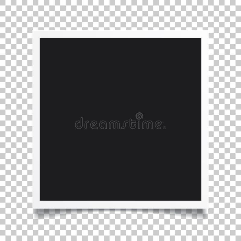 传染媒介照片框架 套现实纸立即照片 Tem 库存例证