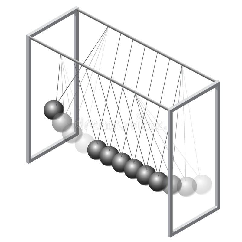 传染媒介牛顿摇摆 等量摆锤摇篮金属蒴 主要例证 库存例证