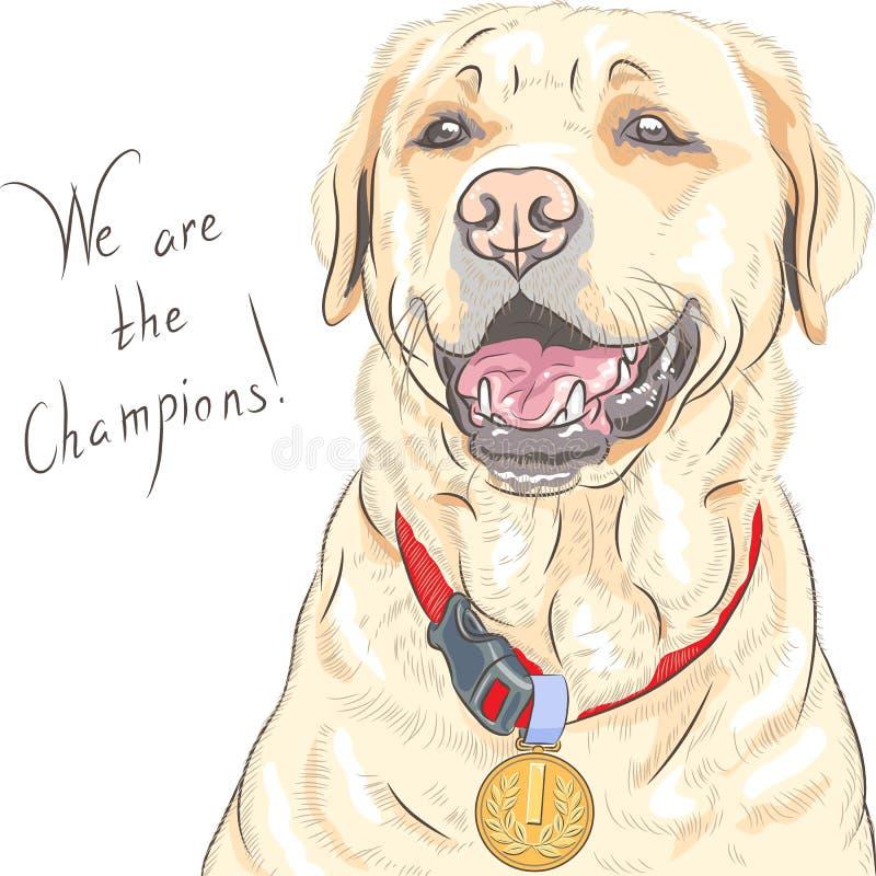 传染媒介狗品种拉布拉多猎犬冠军 皇族释放例证