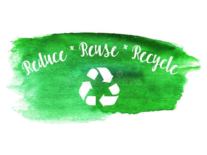 传染媒介环境eco标签 向量例证