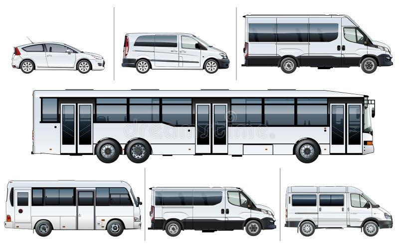 传染媒介现实城市运输大模型 库存例证