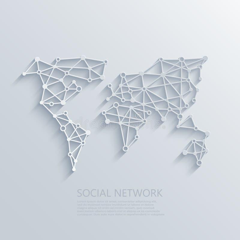 传染媒介现代社会网络光概念背景 皇族释放例证