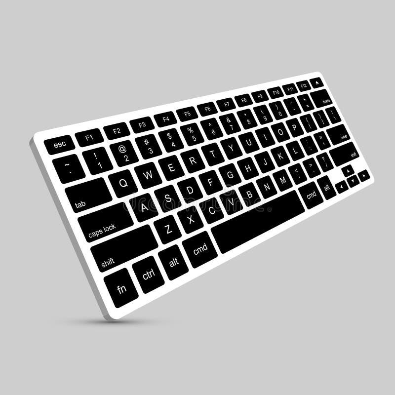 传染媒介现代键盘背景 库存例证