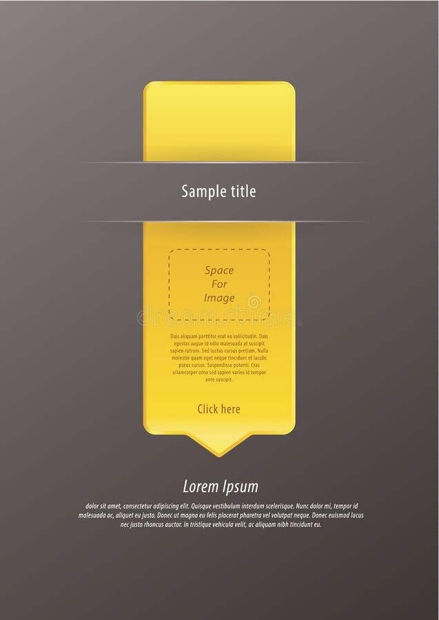 传染媒介现代infographic箭头。豪华感受。相当大,编辑可能 库存例证