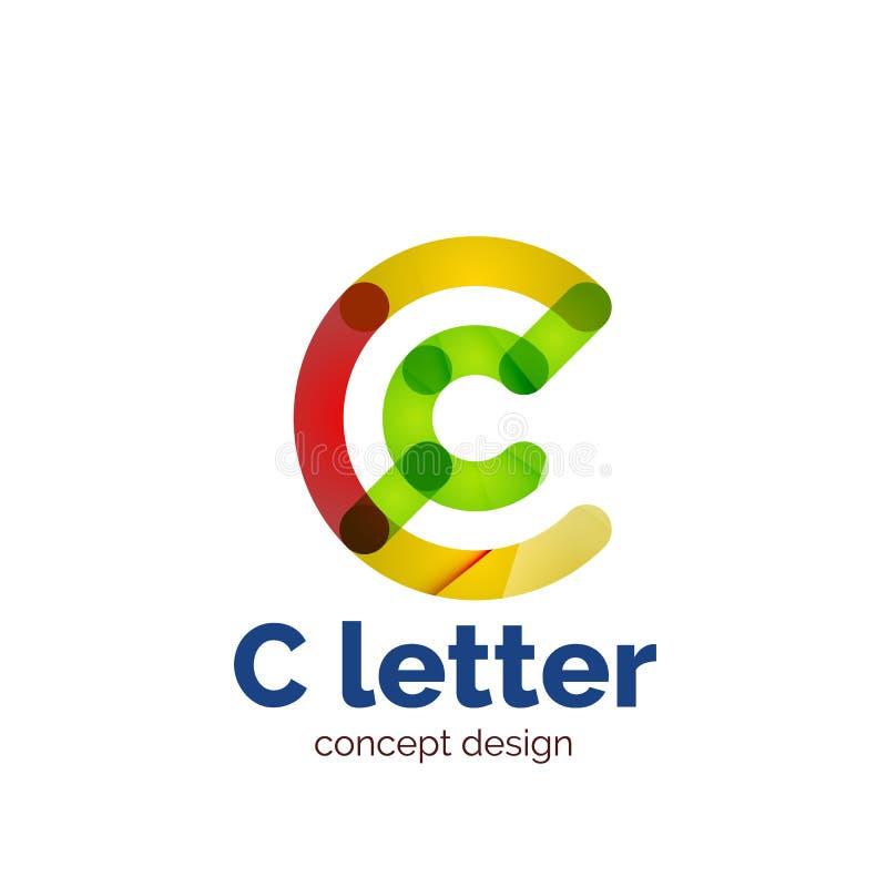 传染媒介现代minimalistic信件概念商标 库存例证