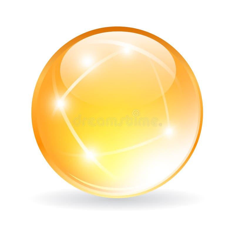 传染媒介玻璃天体 库存例证