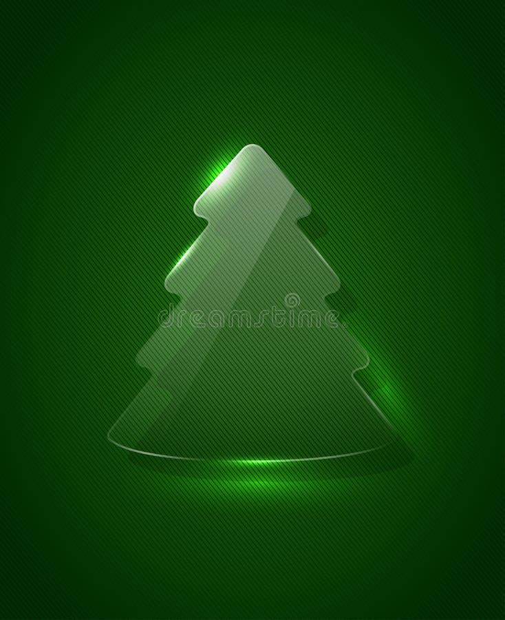 传染媒介玻璃christmass树 向量例证
