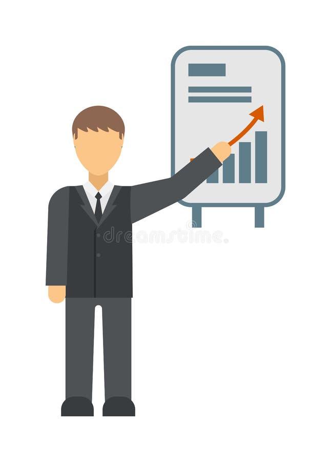 传染媒介生长图图表象企业箭头进展图 向量例证