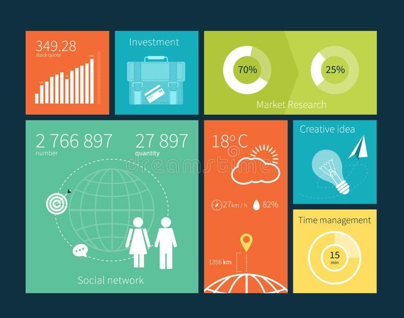 传染媒介用户界面infographic模板 向量例证
