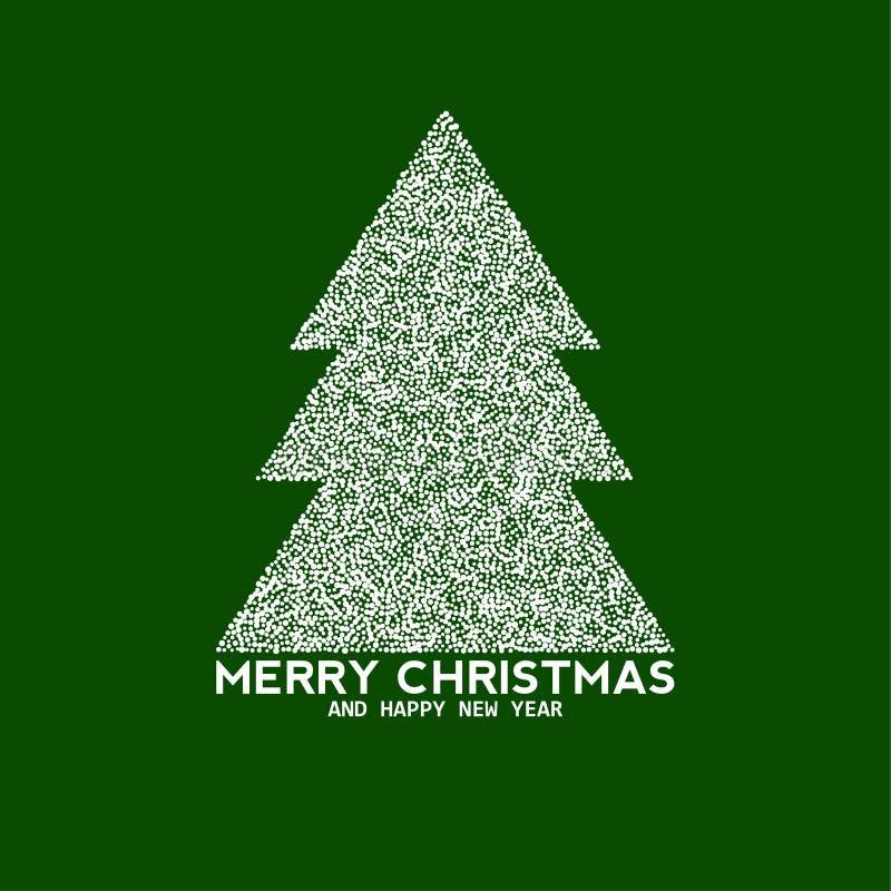 传染媒介由小点做的圣诞树 皇族释放例证