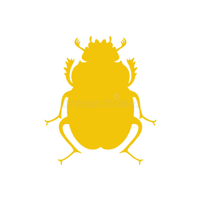 传染媒介黑甲虫,埃及标志 夫人臭虫商标模板 皇族释放例证