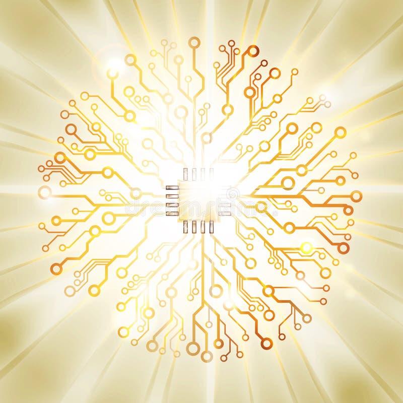 传染媒介电路板太阳爆炸 皇族释放例证