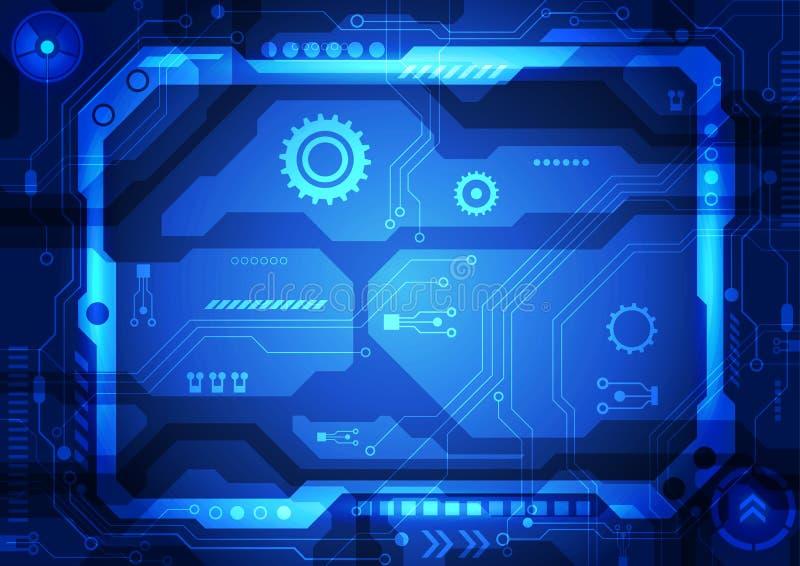传染媒介电路板背景技术 例证 库存例证