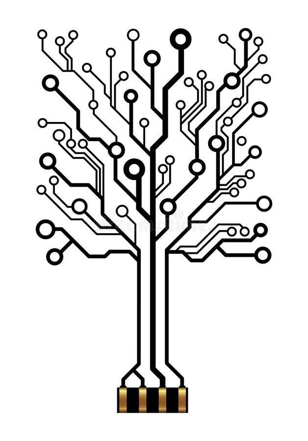 传染媒介电路树 向量例证
