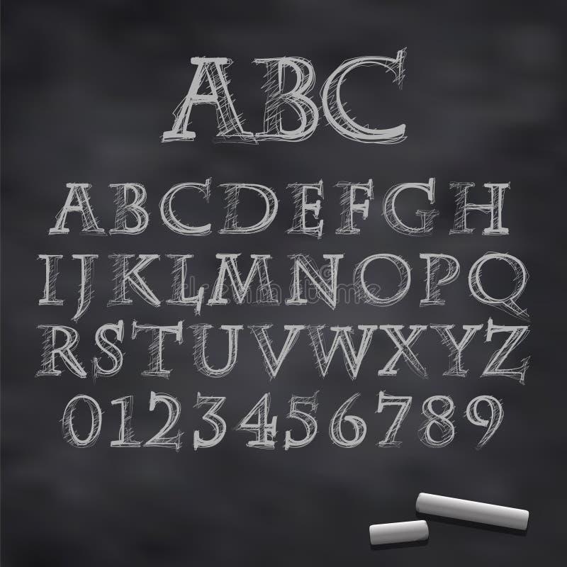 传染媒介白垩字体 向量例证