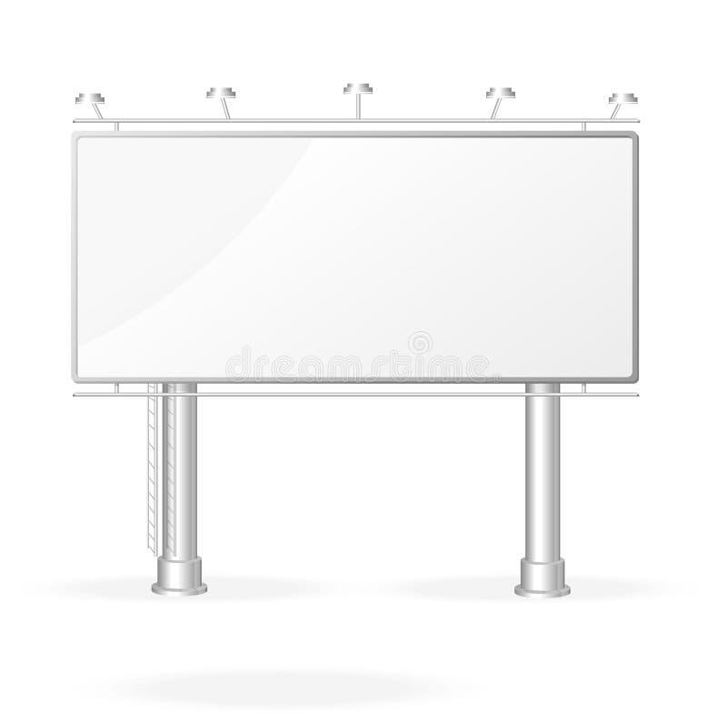 传染媒介白色广告牌屏幕模板 库存例证