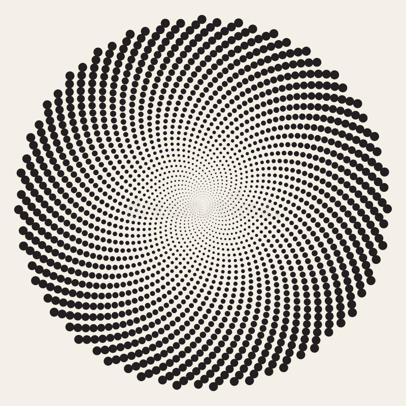 传染媒介黑白螺旋圈子漩涡摘要圆的错觉 抽象几何背景设计 id.图片