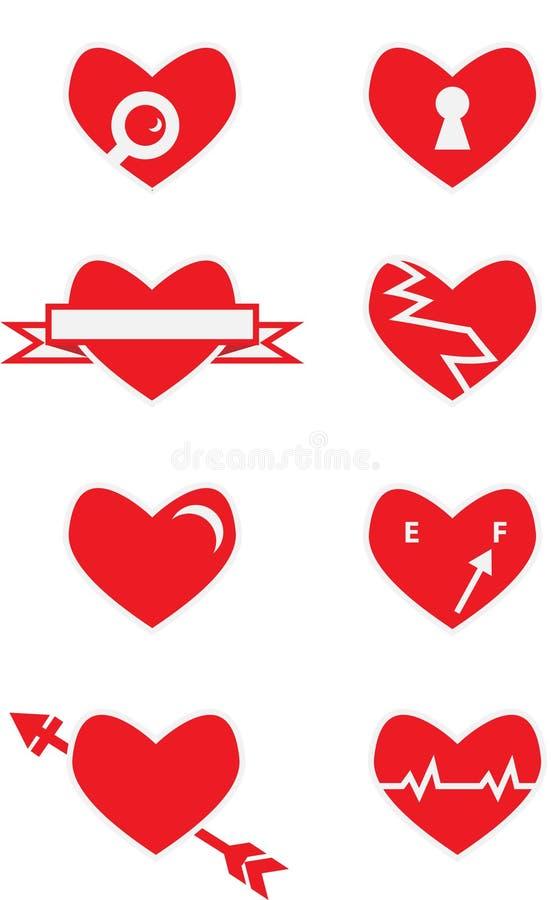 传染媒介盒心脏 免版税库存图片