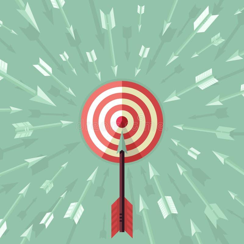 传染媒介目标在平的样式的成就概念 向量例证