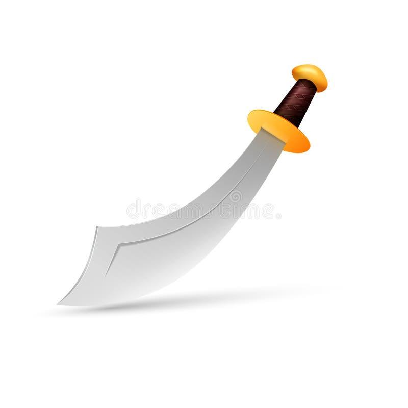 传染媒介短弯刀 皇族释放例证