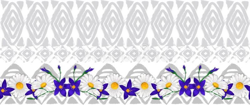 传染媒介种族无缝的样式美国传统装饰品 库存例证