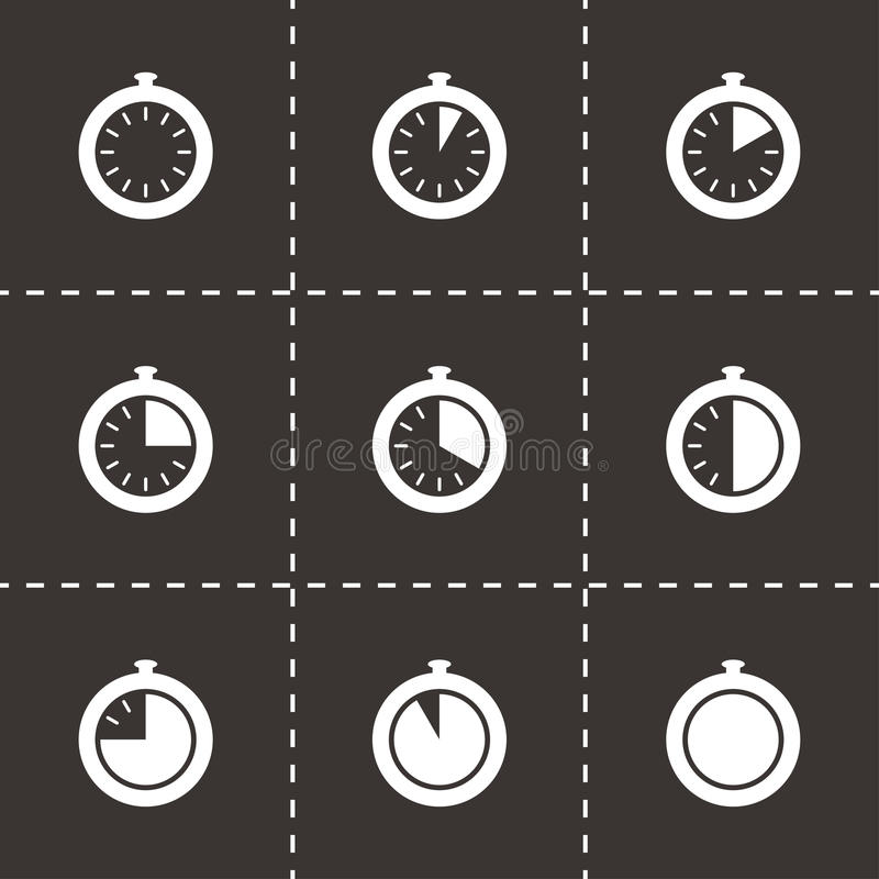 传染媒介秒表象集合 向量例证