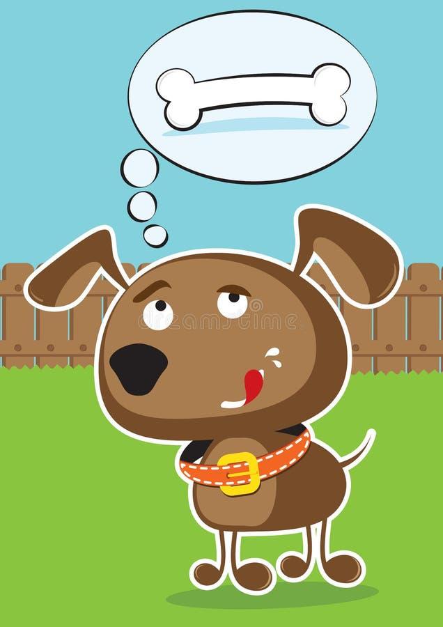 传染媒介滑稽的动画片狗 库存例证